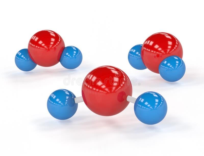 Moléculas de agua stock de ilustración