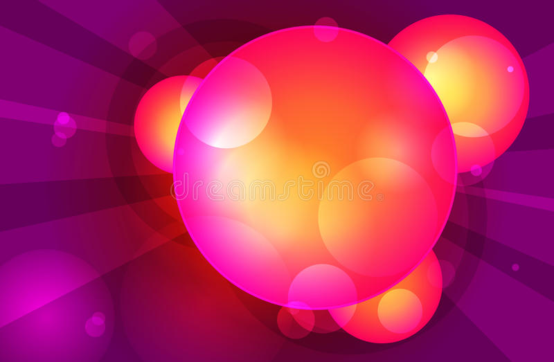 Moléculas de lujo ilustración del vector