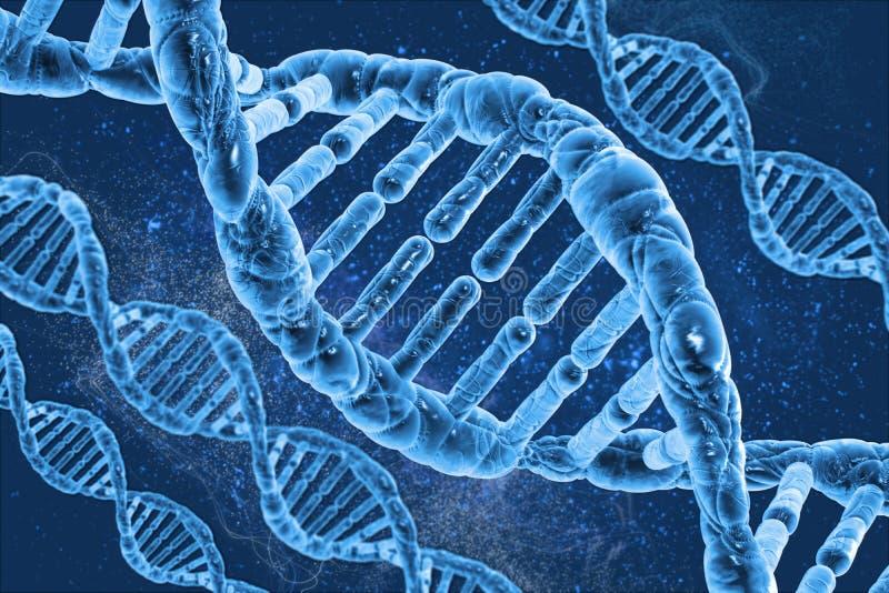 Moléculas do ADN ilustração do vetor