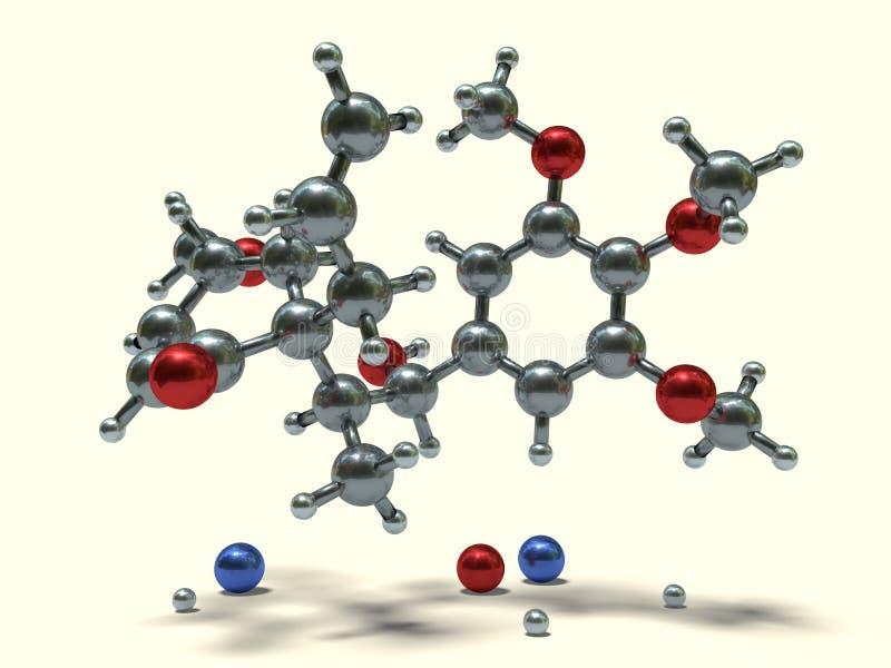 Moléculas engraçadas - megafone ilustração royalty free