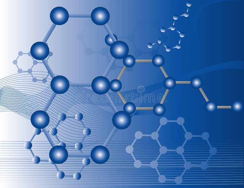 Moléculas orgánicas stock de ilustración