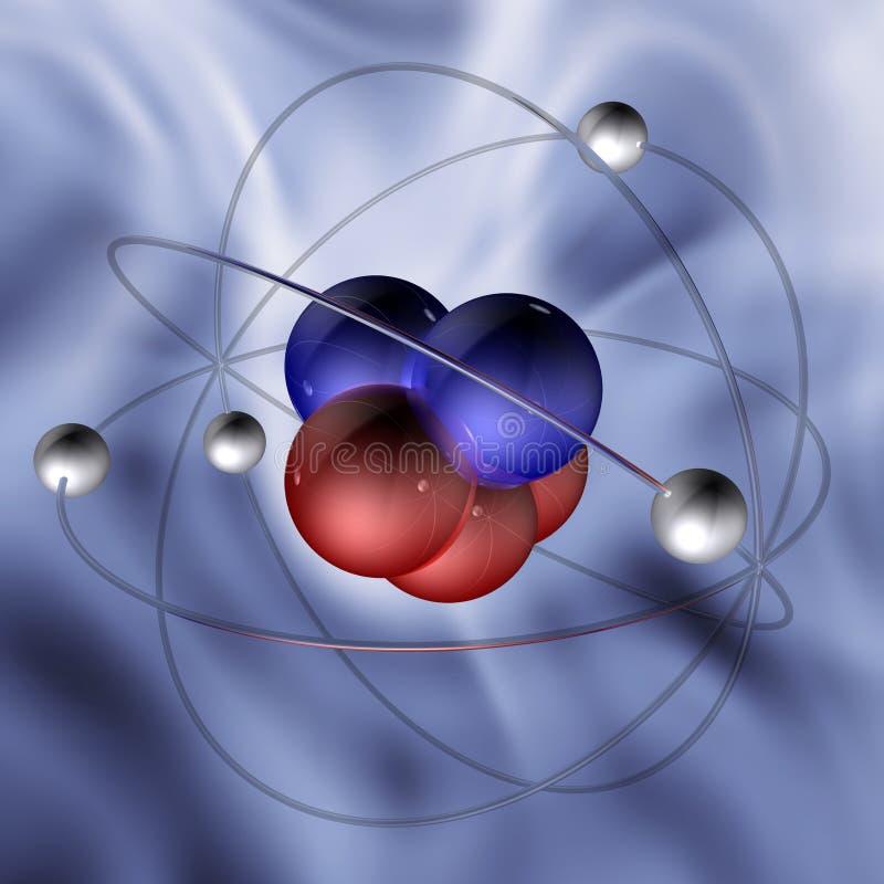 Molécule 1 d'atome illustration stock