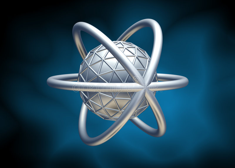molécule 3d illustration stock