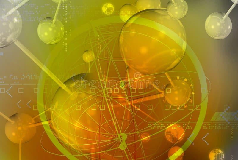 Molécule illustration stock