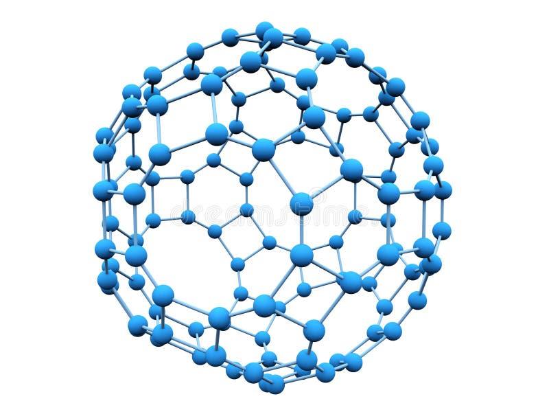 Molécule bleue illustration de vecteur
