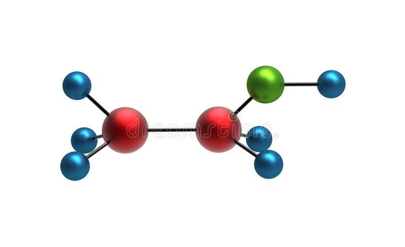 Molécule d'éthanol illustration stock