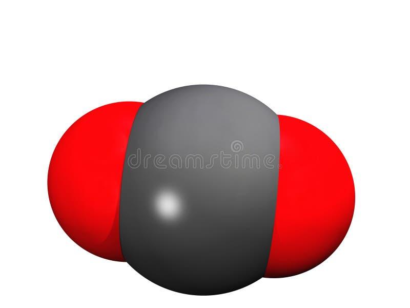 Molécule d'anhydride carbonique illustration de vecteur