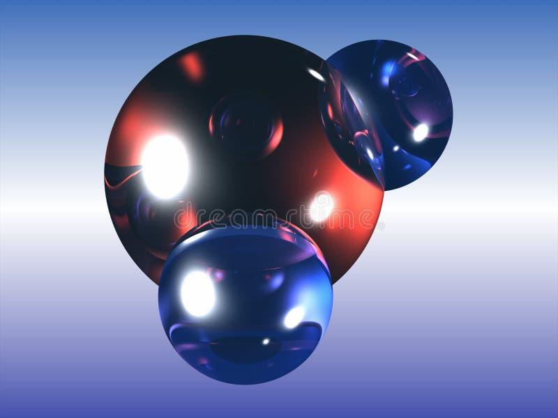 Molécule d'eau de H2O illustration de vecteur
