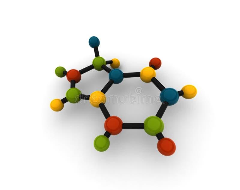 Molécule d'isolement illustration de vecteur