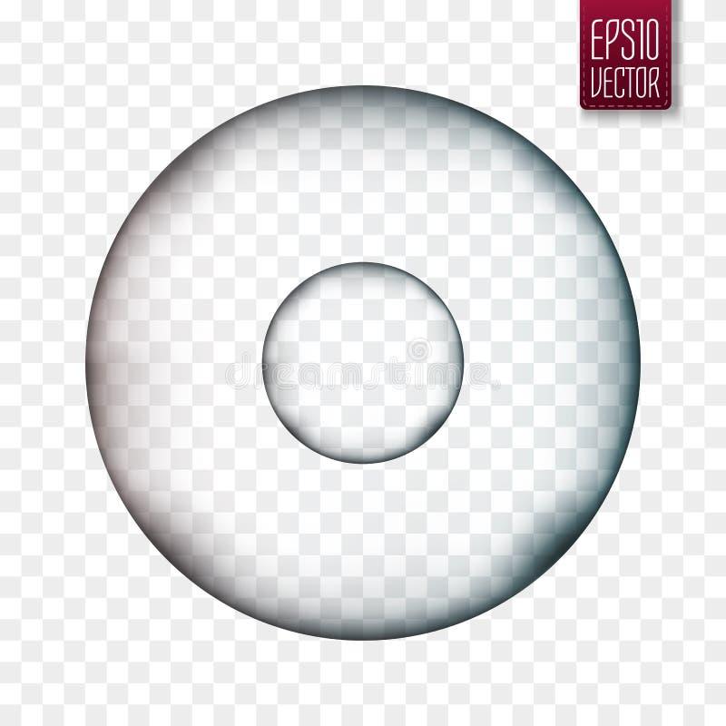 Molécule d'isolement Cellule ou virus transparente de vecteur illustration de vecteur