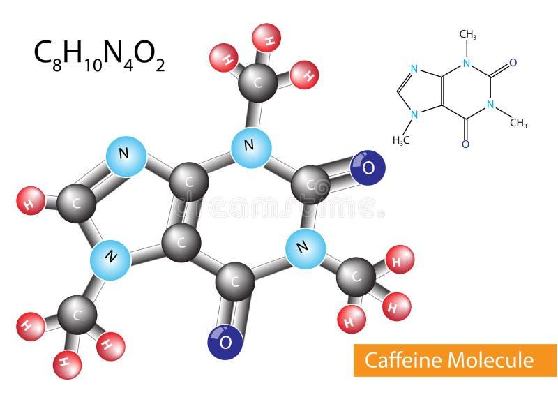 Molécule de caféine illustration de vecteur