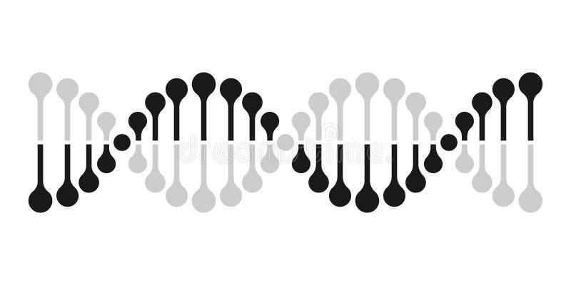 Molécule de gène d'ADN de la génétique de chromosome d'icône de vecteur d'ADN illustration stock