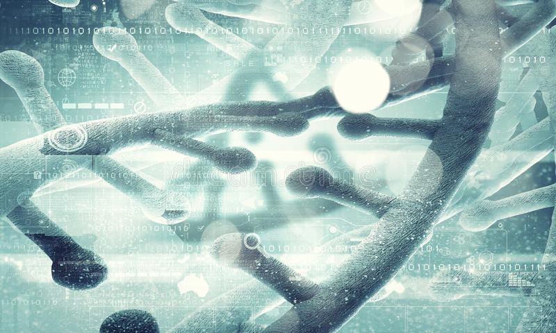 Molécule de l'ADN image libre de droits