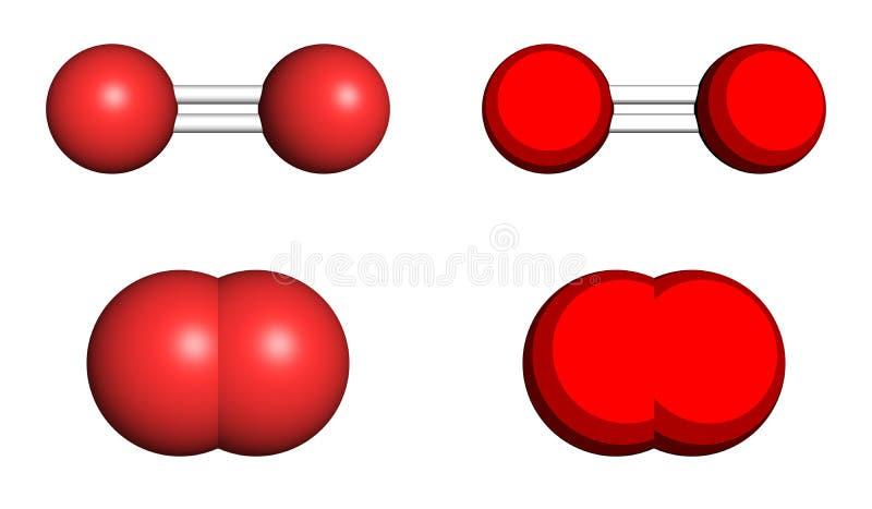 Molécule de l'oxygène illustration stock