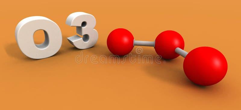 Molécule de l'ozone illustration libre de droits