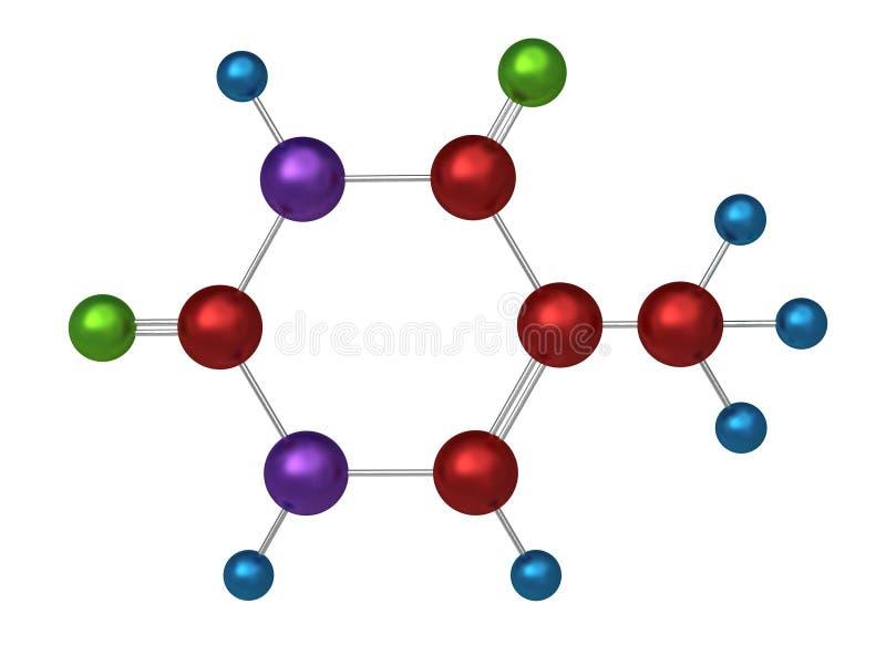 Molécule de thymine illustration libre de droits