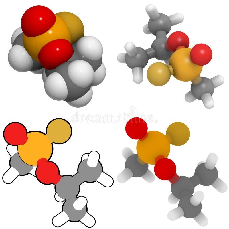Molécule du Sarin (gigaoctet) illustration libre de droits