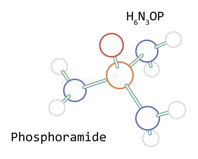 Molécule H6N3OP Phosphoramide photos stock
