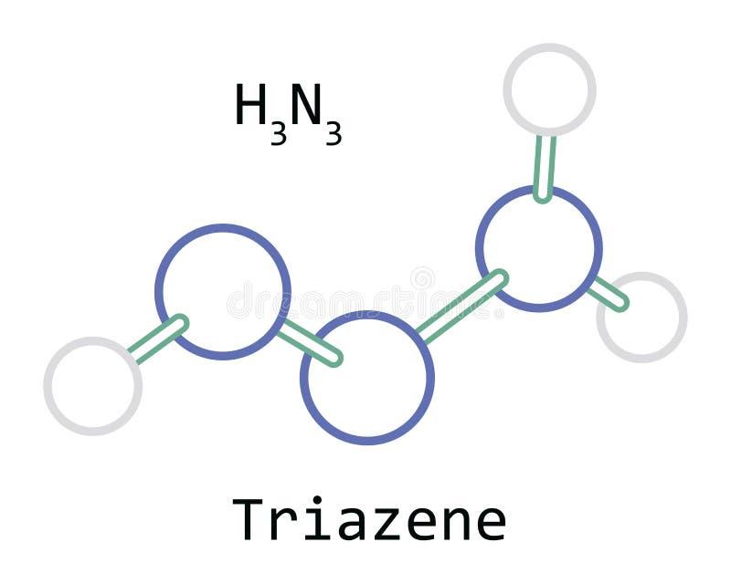 Molécule H3N3 Triazene image libre de droits
