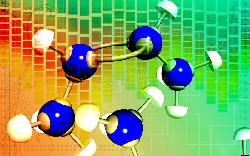 Molécules illustration libre de droits