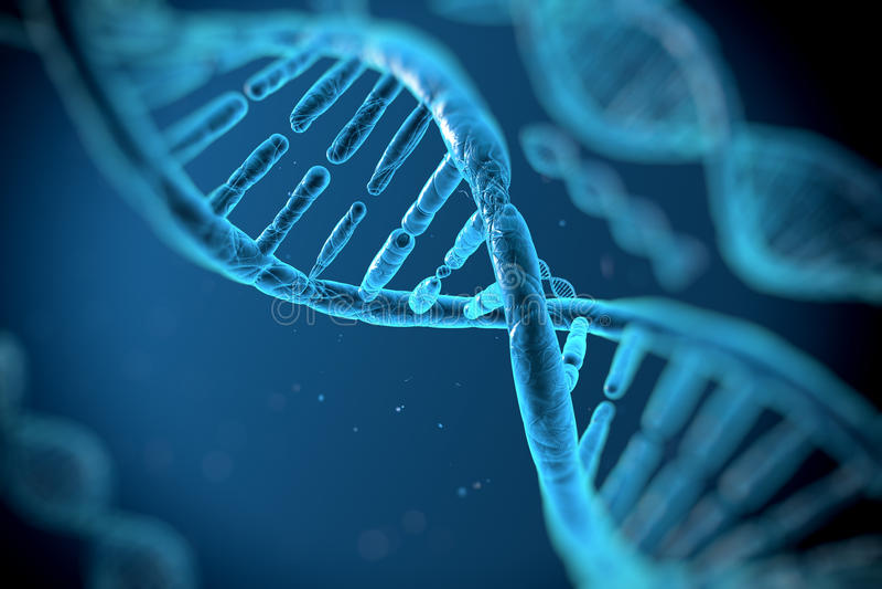 Molécules d'ADN illustration stock