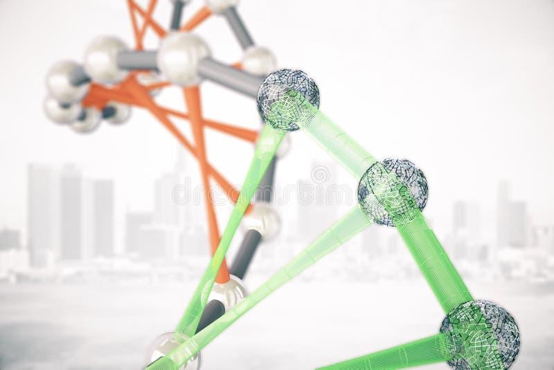 Download Molécules D'ADN Sur Le Fond De Ville Illustration Stock - Illustration du code, pharmacie: 77161807
