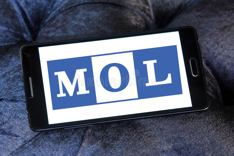 Mol container shipping logo stock photography