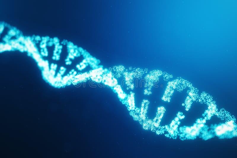 Mol?cula artificial do ADN do intelegence O ADN ? convertido em um c?digo digital Genoma do c?digo de Digitas Tecnologia abstrata ilustração royalty free