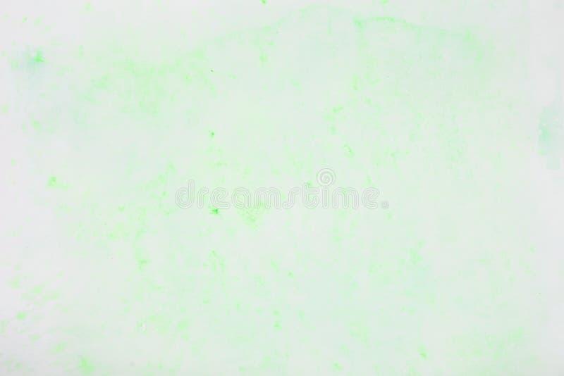 Mola abstrata delicada, ponto pastel verde macio, mancha da cor do Livro Branco Textura do papel da aquarela imagem de stock royalty free