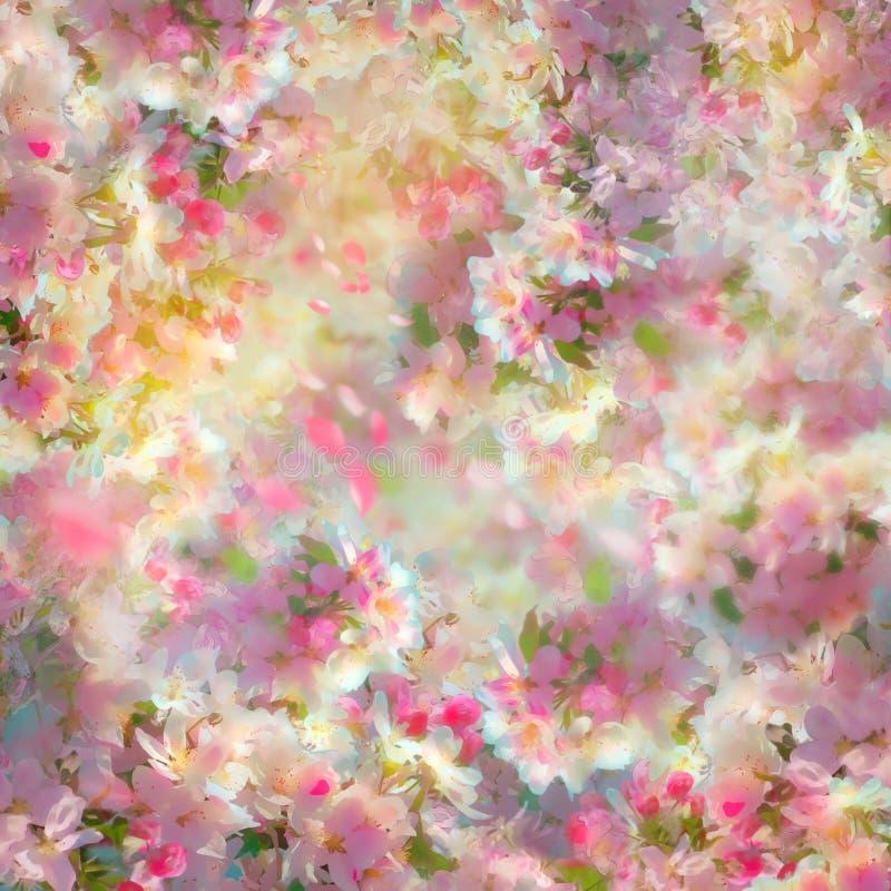 Mola Cherry Blossom Background