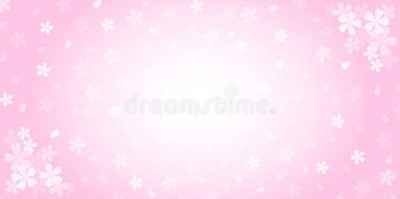 Mola Cherry Blossom Background ilustração stock