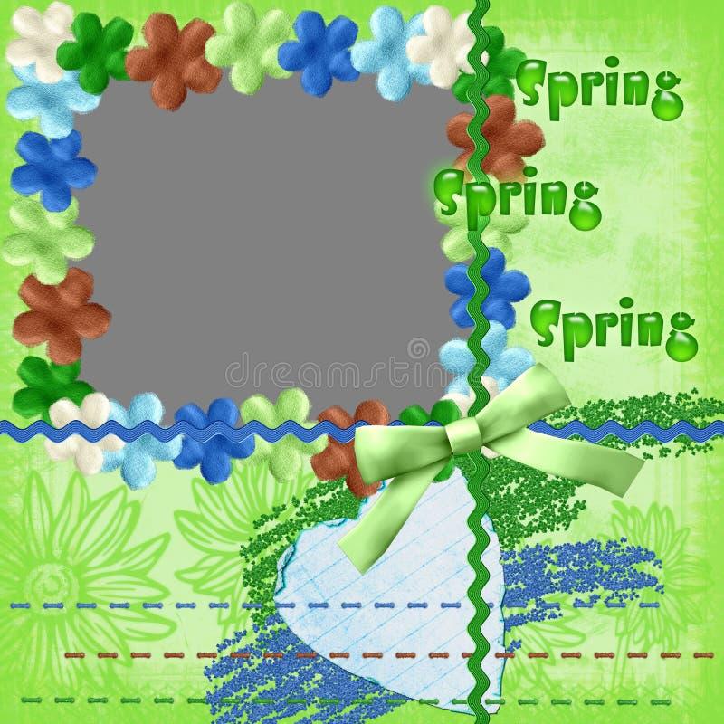 Mola da estrutura com flores ilustração royalty free