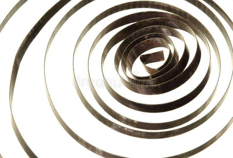 Mola de bobina espiral fotografia de stock royalty free