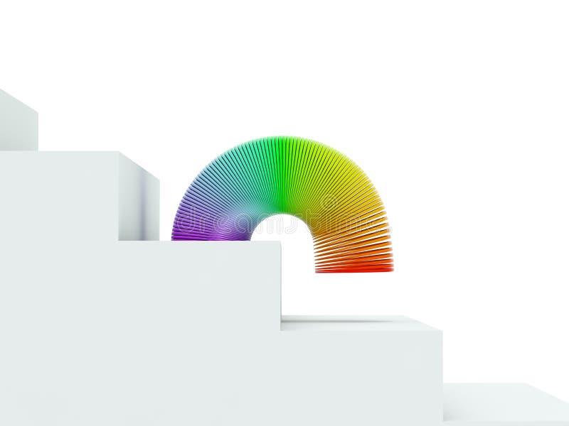 Mola do arco-íris ilustração do vetor