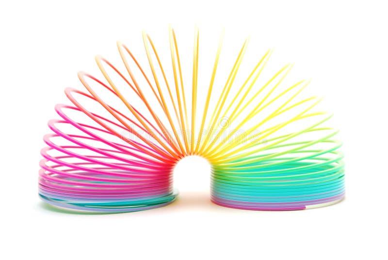 Mola do arco-íris isolada no branco imagem de stock royalty free