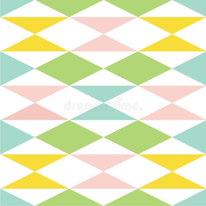 Mola doce teste padrão sem emenda colorido do vetor do sumário Textura à moda moderna de repetir telhas geométricas de ilustração royalty free