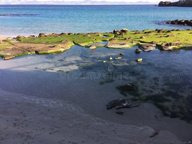Mola dos continentes da praia do mar da água imagens de stock royalty free