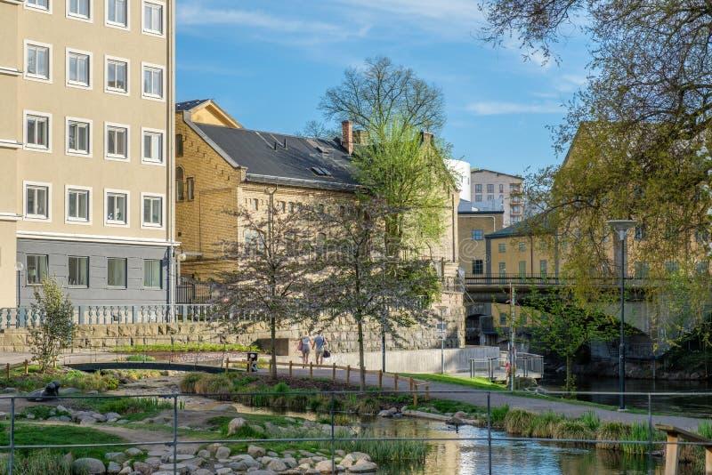 Mola em Norrköping, Suécia imagens de stock royalty free