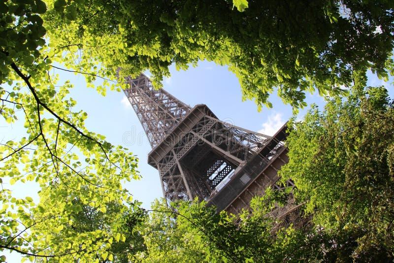 Mola em Paris, a torre Eiffel fotografia de stock