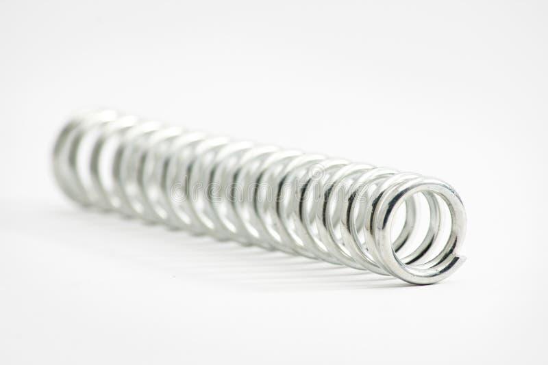 Mola espiral do elástico do metal foto de stock royalty free