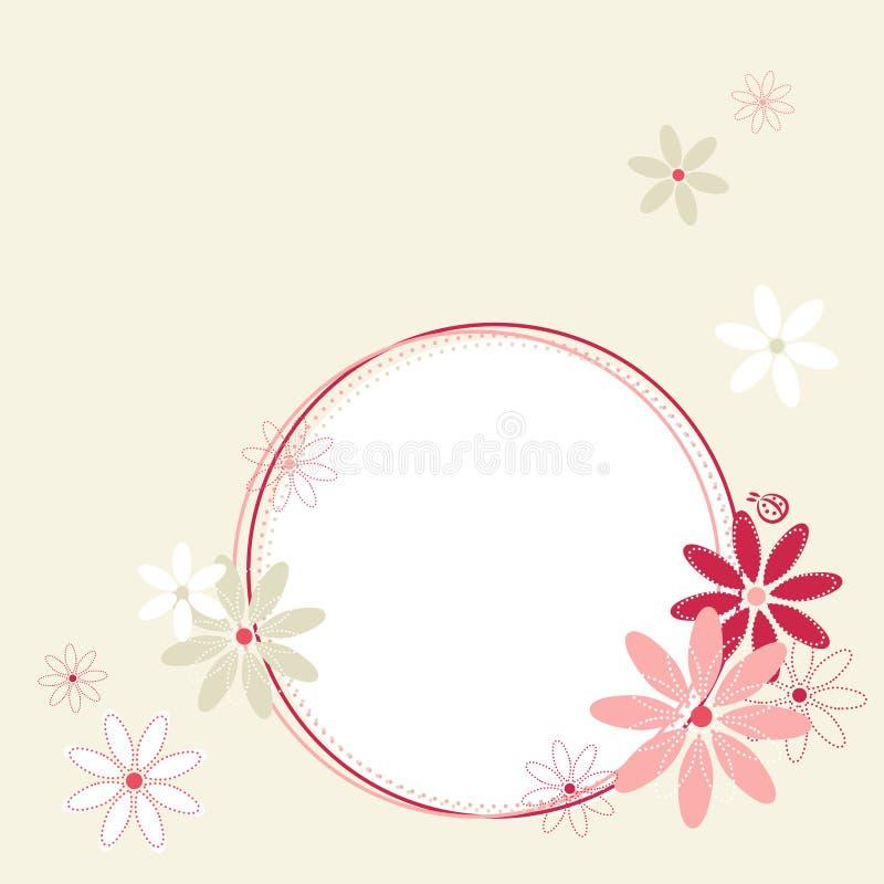 A mola floresce o frame. ilustração stock