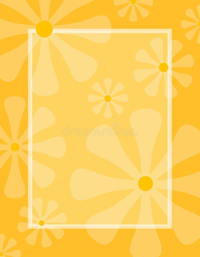 A mola floresce o fundo da laranja do ouro ilustração do vetor