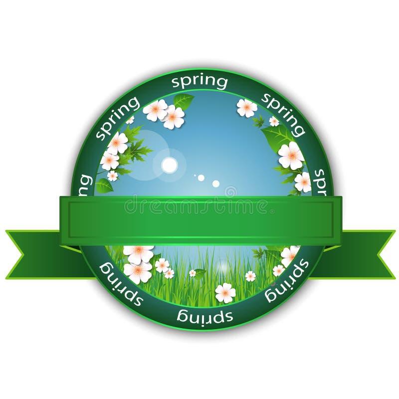 A mola floresce o logotipo ilustração do vetor