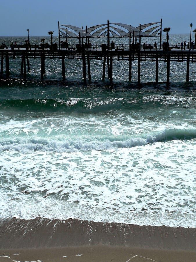 mola na plaży redondo obraz stock