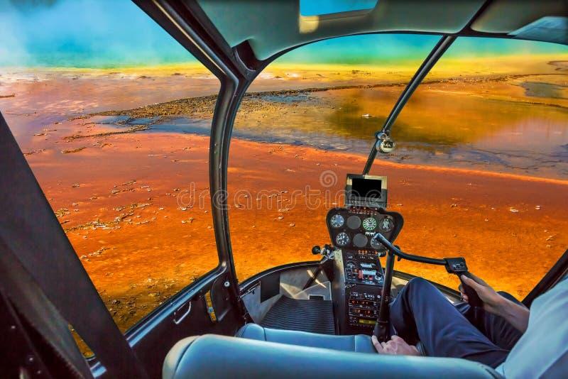 Mola prismático grande do helicóptero fotos de stock royalty free