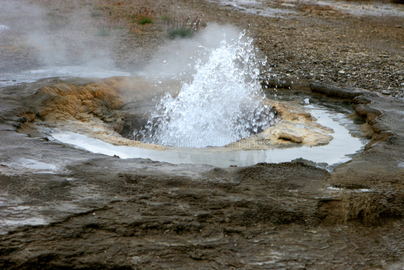 Mola quente Geothermal 02 fotos de stock royalty free