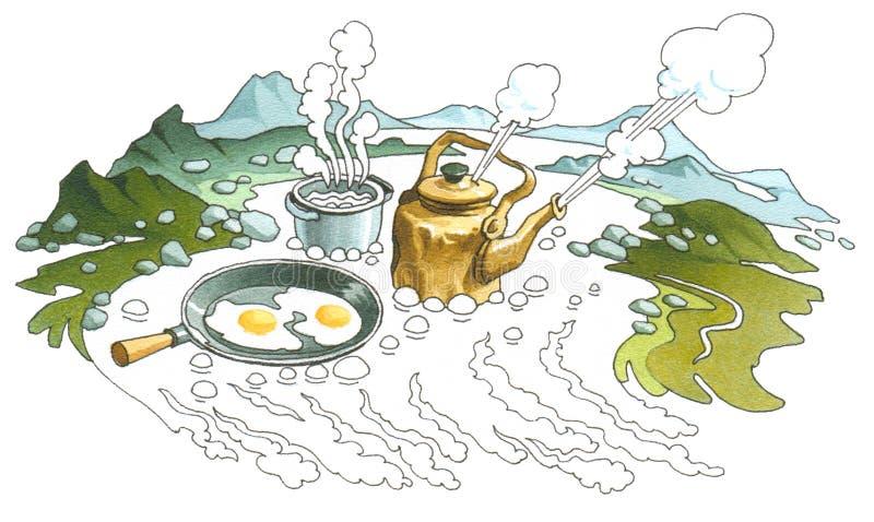 Mola quente (geyser) ilustração do vetor