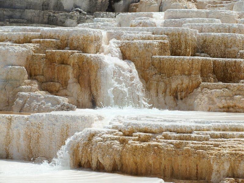 Mola quente no parque nacional de Mammoth Hot Springs Yellowstone imagens de stock royalty free