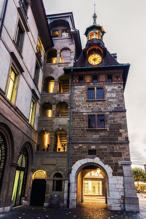 Molard torn i Genève arkivbilder