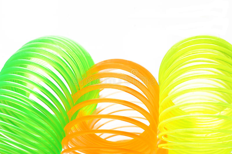 Molas coloridas plásticas imagem de stock royalty free